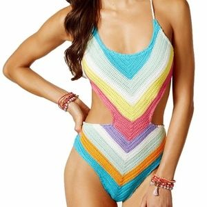 NEW Crochet One-Piece Swimsuit Size M